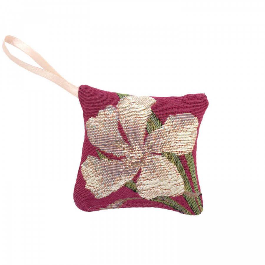 Scented tapestry mini cushion laurel flowers