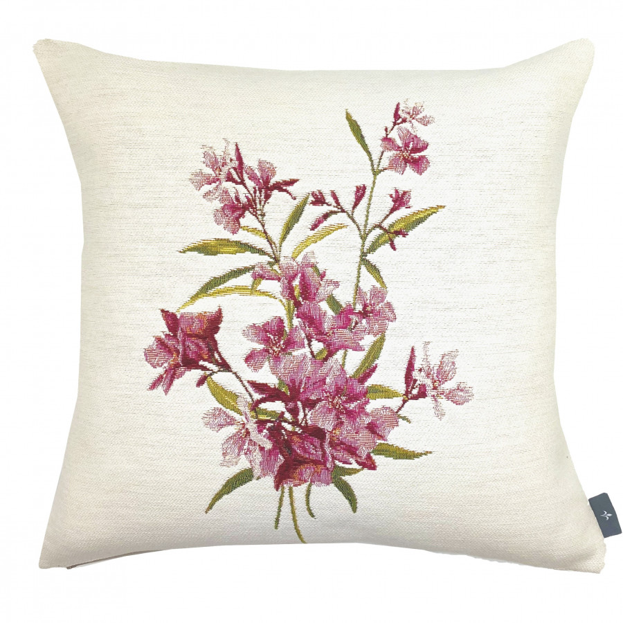 Cushion cover laurel flowers