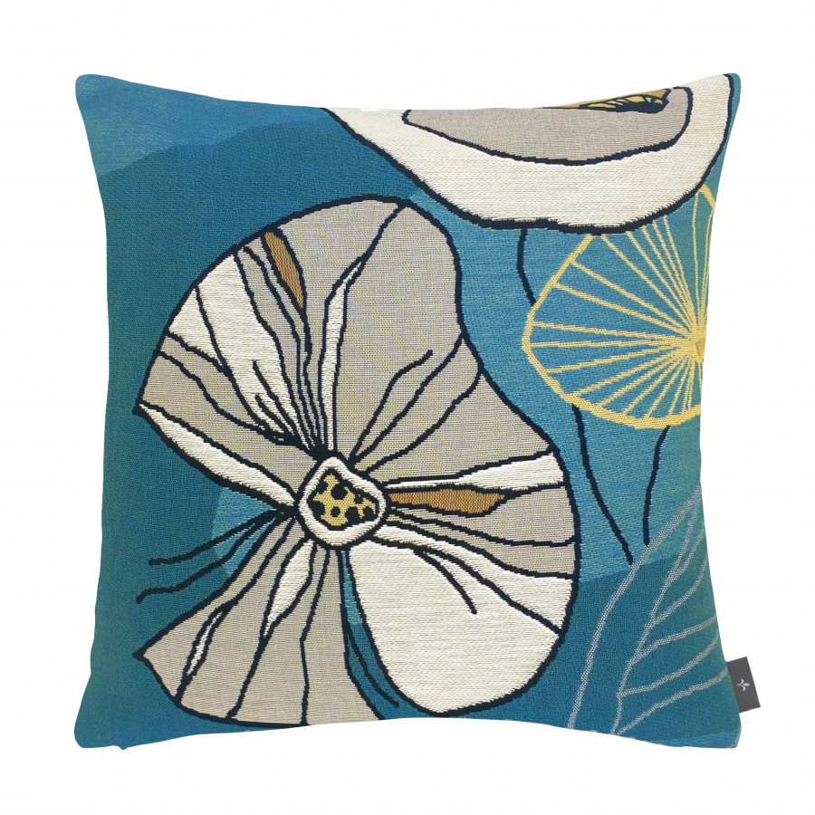 Cushion cover abstract flowers