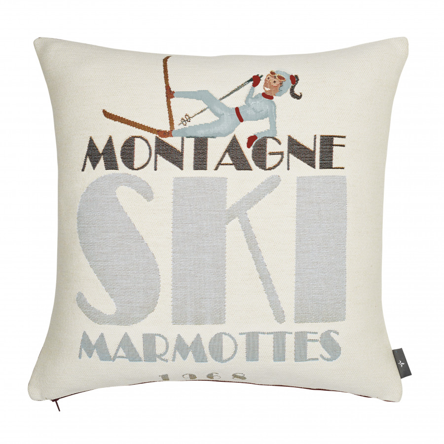 Tapestry cushion cover Ski fall