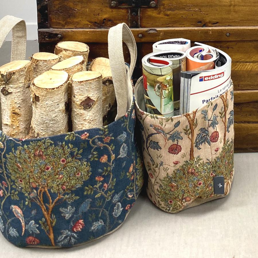 Small tapestry basket Kelmscott Tree