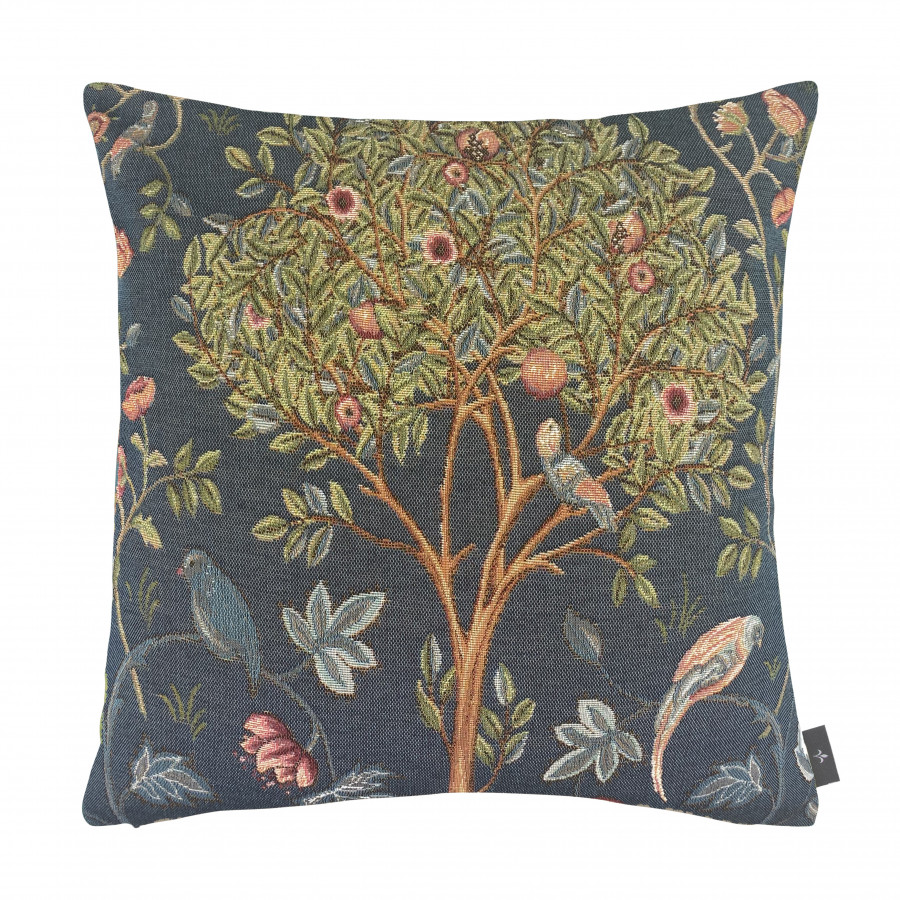 Tapestry cushion cover Kelmscott Tree