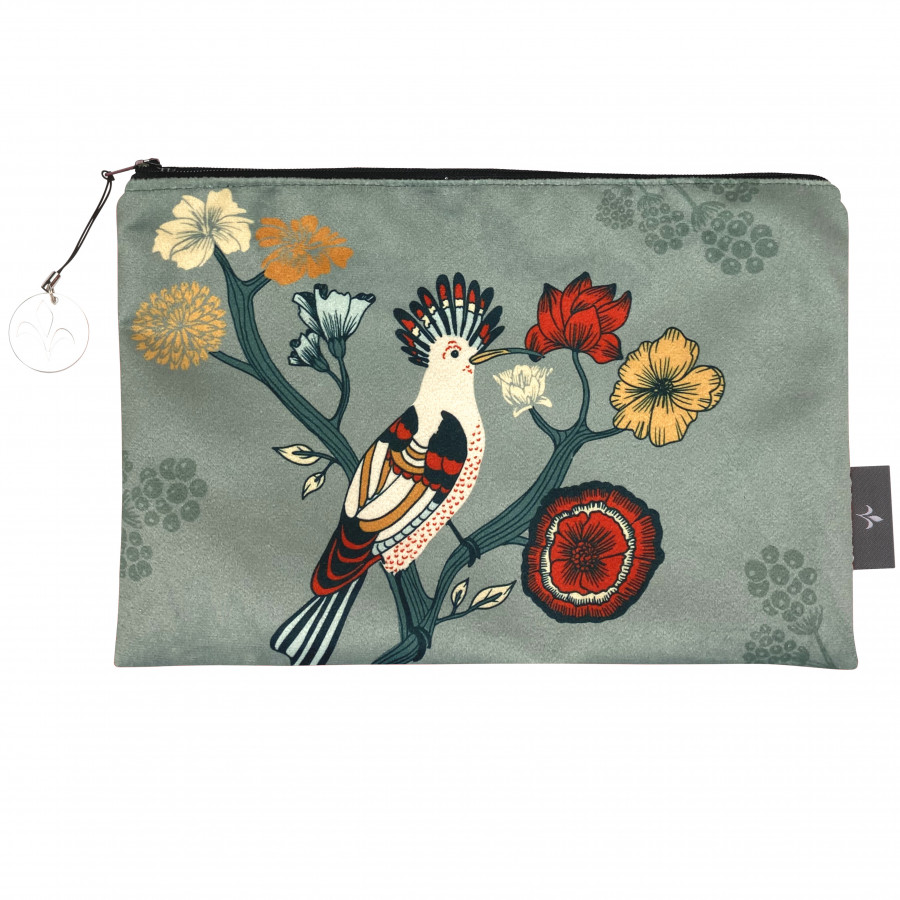 Printed cosmetic bag The birds