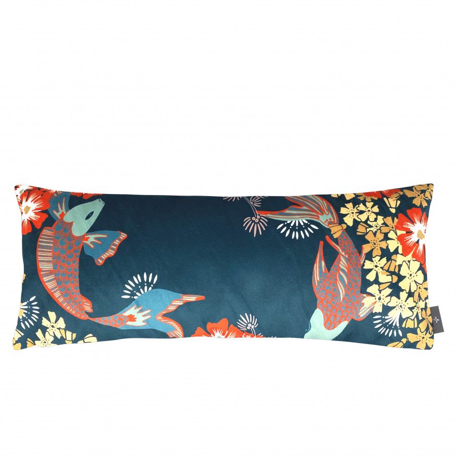 Housse de coussin imprimée Les poissons Koï