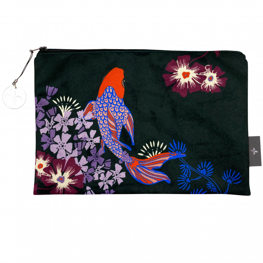 Printed cosmectic bag Koï fishes