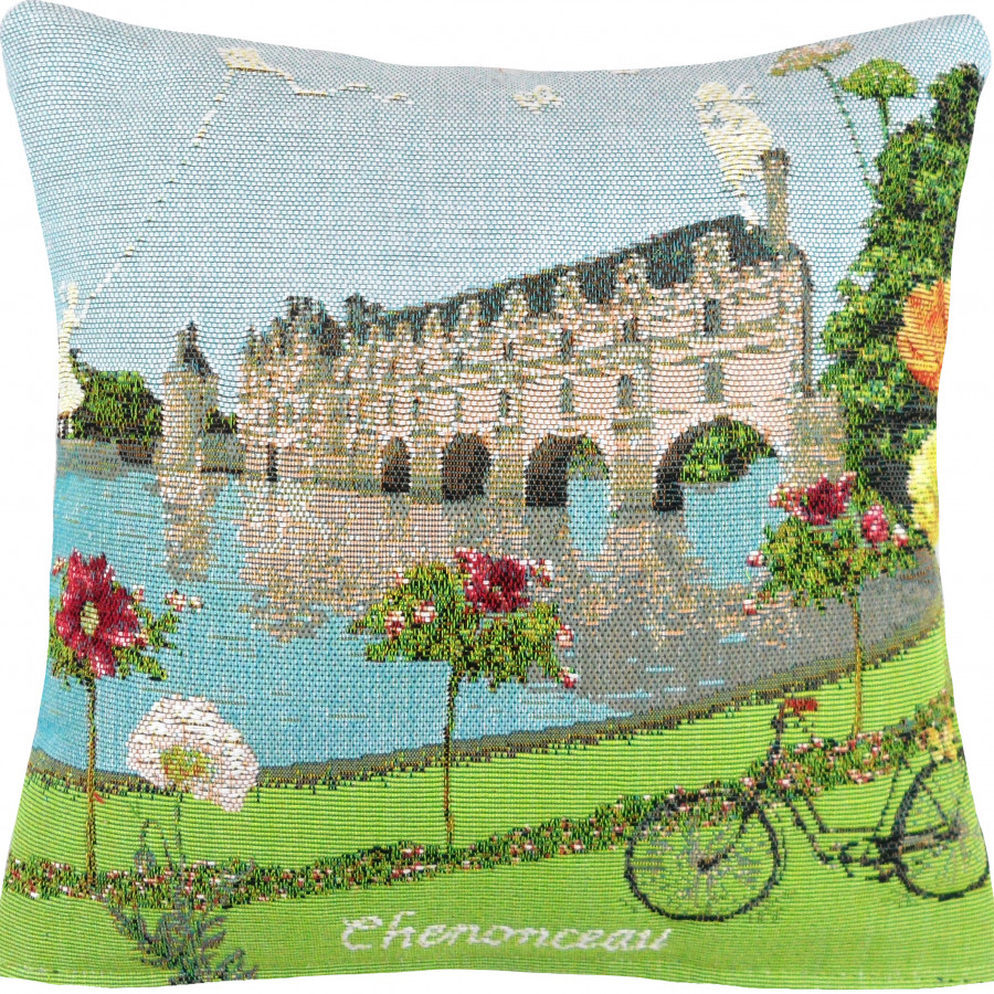 Cushion cover Flowered Chenonceau castle