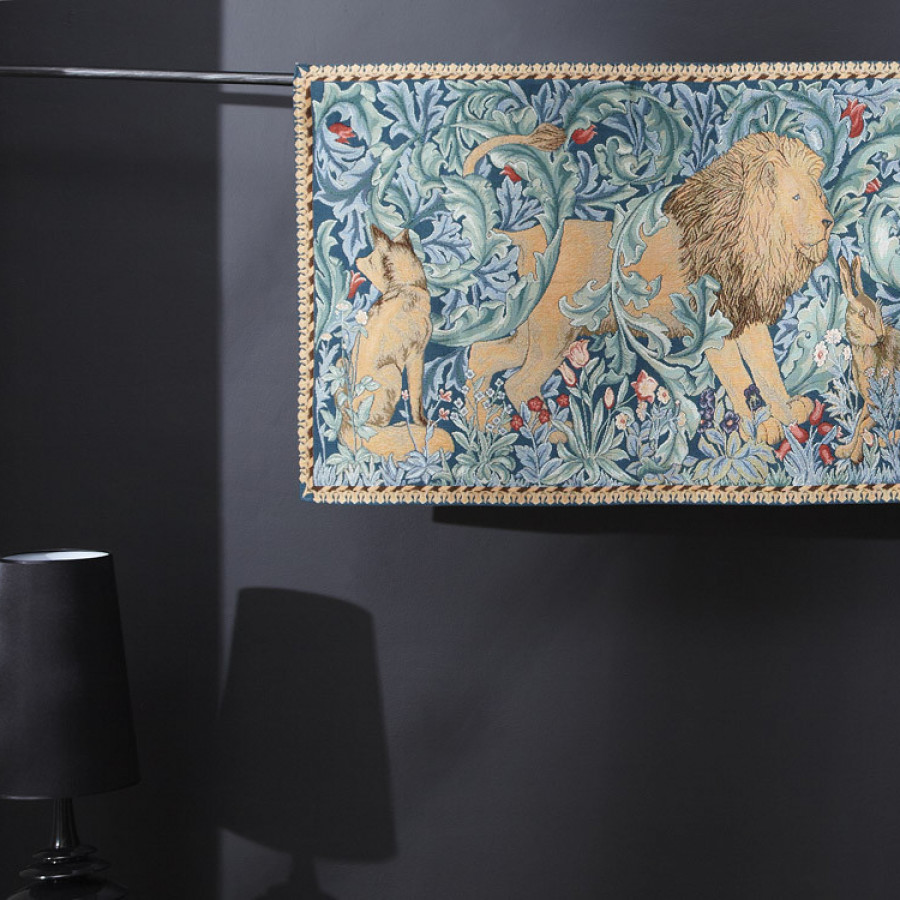 """Tapestry """"The Forest"""", lion, W. Morris"""