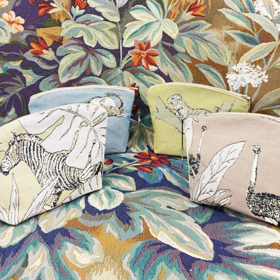 Tapestry cosmetic bag Ostriches