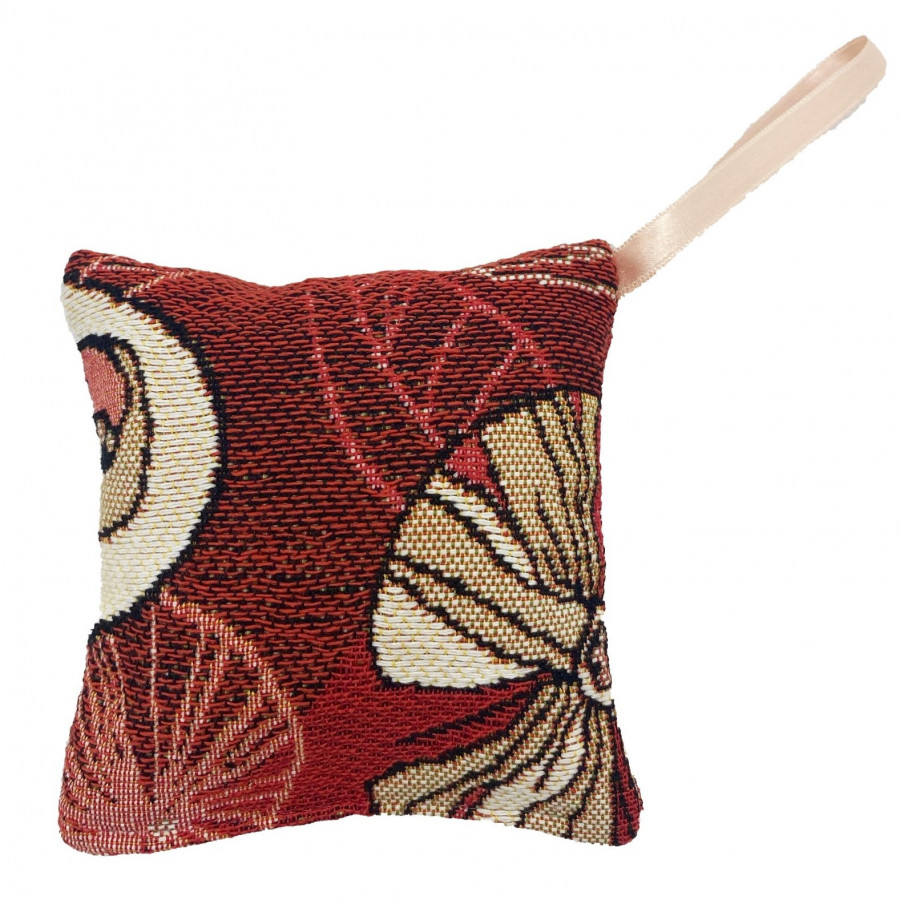 Scented tapestry mini cushion abstract flowers