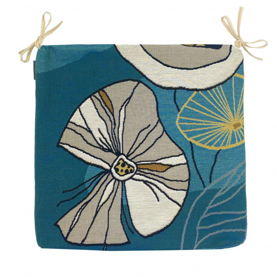 Tapestry chair pad Abstract flowers