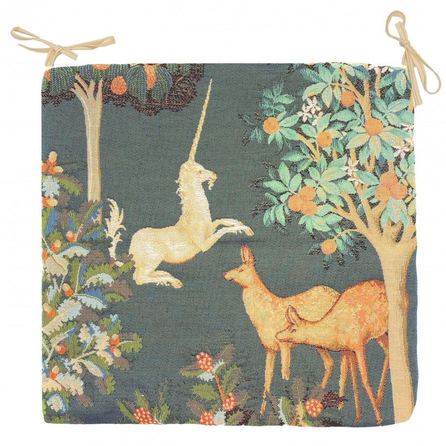 Tapestry chair pad fantasy forest