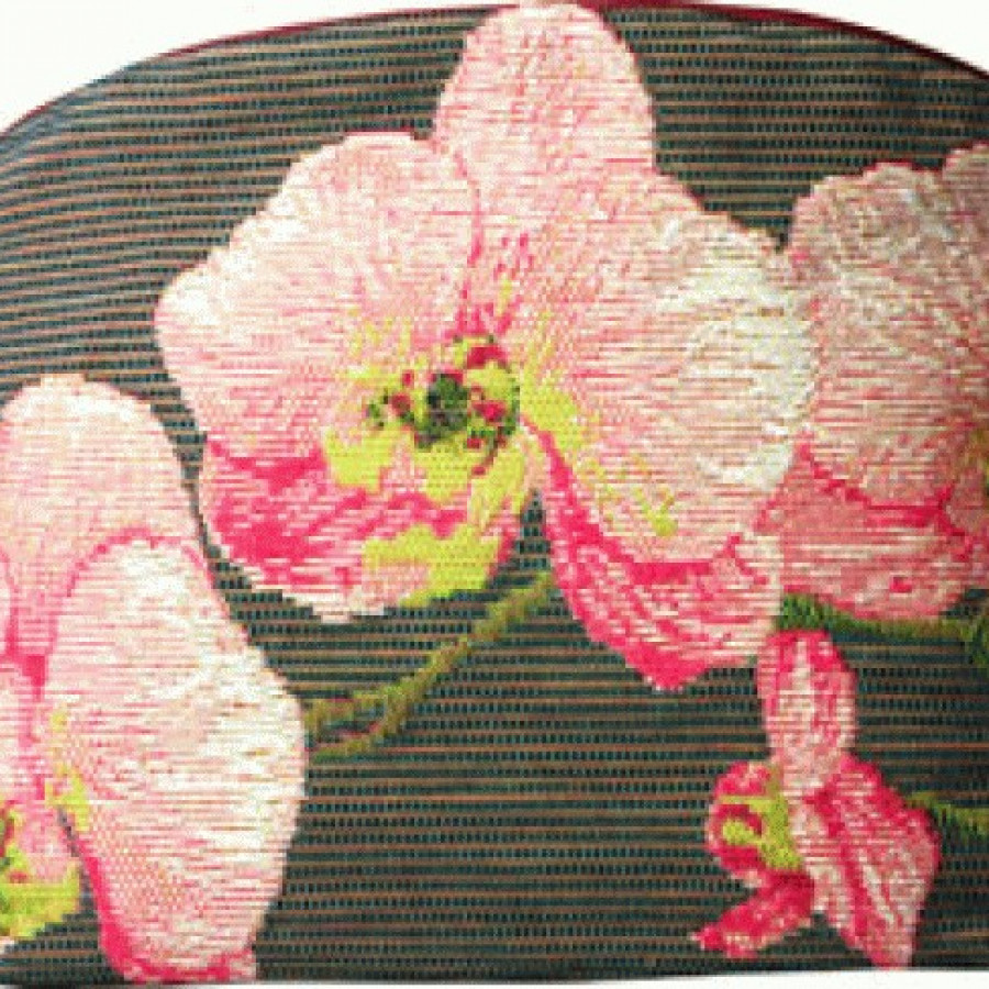 Cosmetic bag Pink orchids